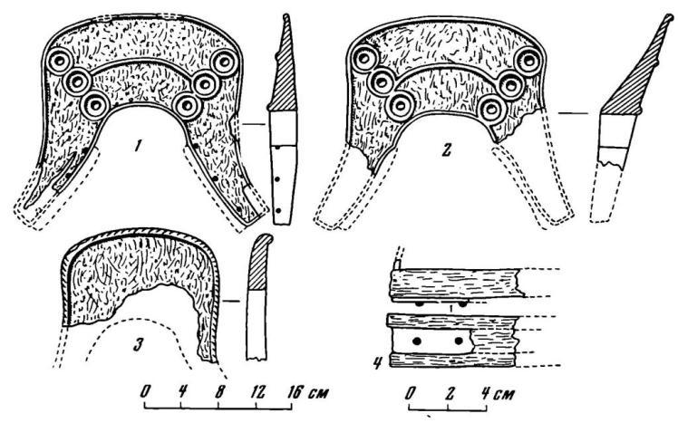 Рис. 2. Остатки седел, найденных в районе Пятигорья