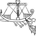 Корабль на погребальном сосуде из Вей. Первая половина VIIв. до н.э.