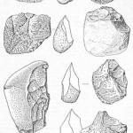 Рис. 9. Вироби з нижнього шару стоянки Королеве у Закарпатті, що датуються близько 1 млн років тому