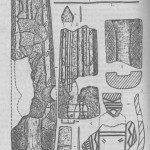 Рис. 2. Бронзовый (1-2,5) и глиняный (3-4,6) инвентарь с поселения Крохалевка.