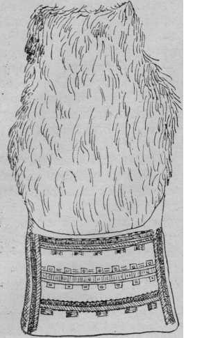 Рис. 1. «Кукуль» — мешок для ног при ездке на санках. Тавгийцы. По А.А. Попову.