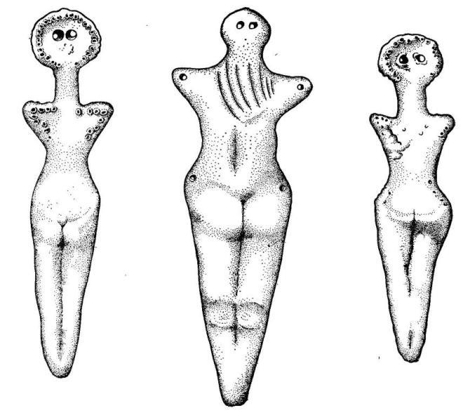 Трипольские женские статуэтки