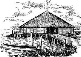 Реконструкция свайной постройки (по Т. Г. Е. Поуэллу)