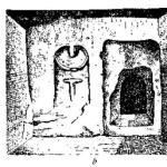 Рис. 141. Статуи-менгиры из Гарда и гробница со скульптурой, Пти Морен (Марна).
