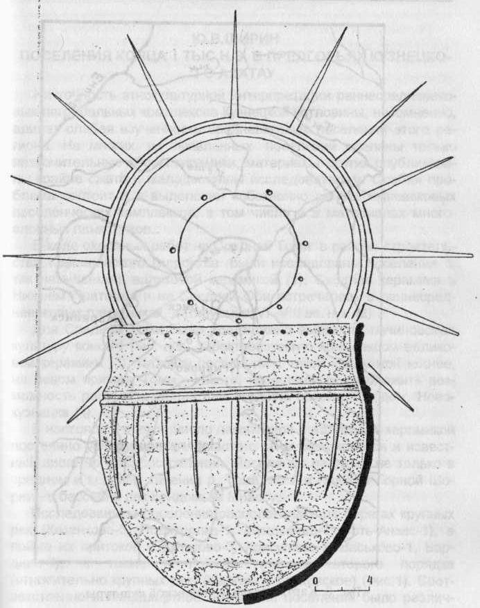 Рис. 7. Развертка сосуда с валиковой орнаментацией.