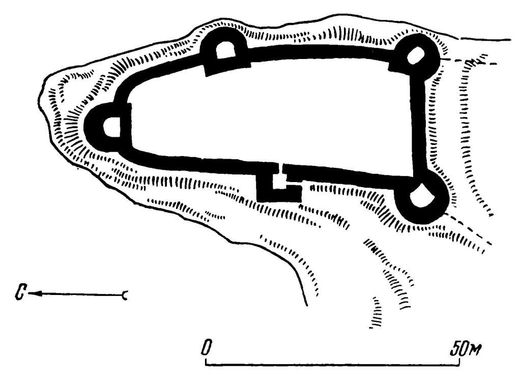 Рис. 4. Ладога. План крепости.