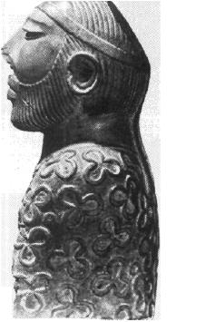 Рис. 53. Мохенджо-даро. Статуя жреца. Камень.