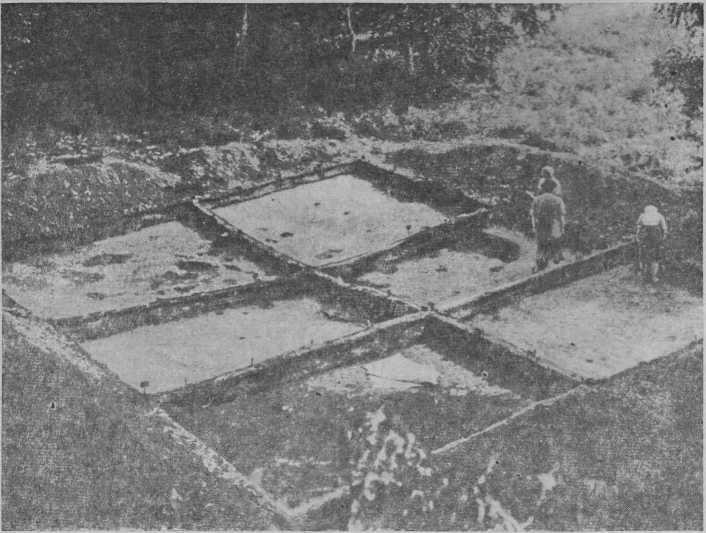 Рис. 2. Вид на раскопанное жилище № 1.