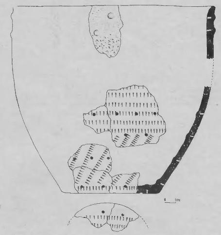Рис. 5. Марково-2 (раскопки 1977 г.). Реконструкция сосуда.