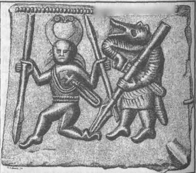 Рис. 106. Матрица для изготовления декоративных накладок из Торсланда, Швеция