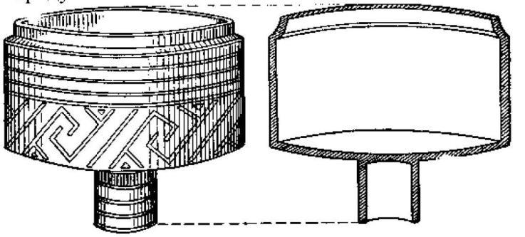 Рис. 61. Ваза на полом цилиндрическом поддоне (Денев)