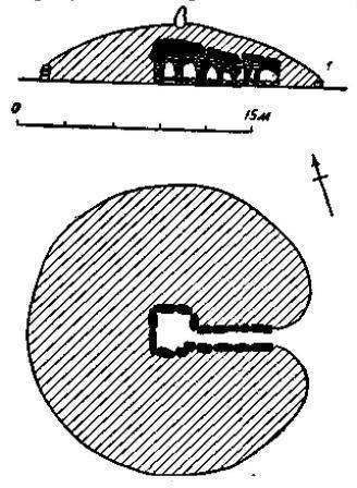 Рис. 144. Гробница с коридором (Керкадо, Морбиган).