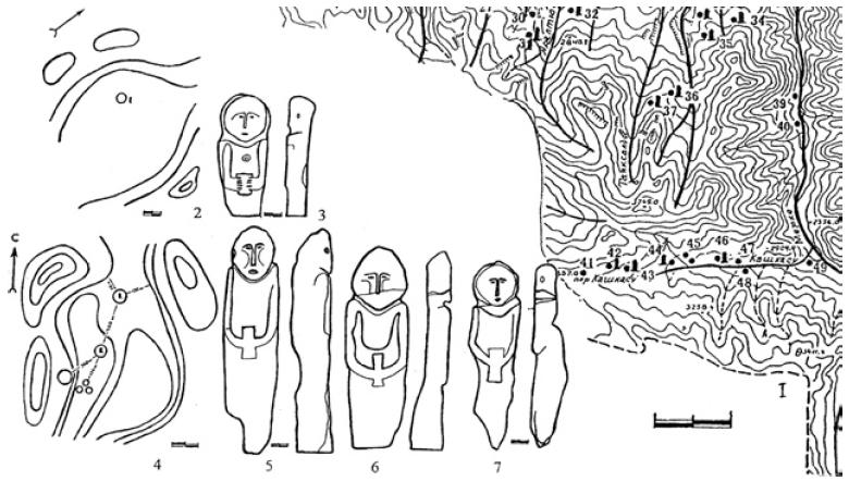 Рис. 5.14. Древнее святилище тюрков — Мерке. (по А.М. Досымбаевой)