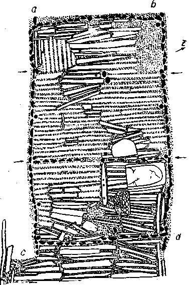 Рис. 134. План дома в Айхбюле.