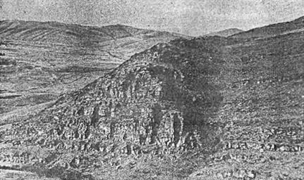 Рис. 70. Минусинская котловина. Тепсей II (общий вид)