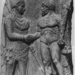 88.Митридат Каллиник, отец Антиоха Коммагенского, и Геракл. Рельеф найден на третьей платформе Арсамейского святилища в Нимфее