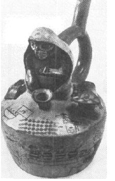 Рис. 62. Мочика. Культовый сосуд. Керамика.