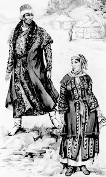 Рис. 5.5. Знатные монголы — чагатаиды. (по М.В. Горелику)