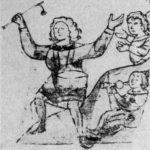 Рис. 2. Древнерусский бубен на миниатюре Кенигсбергской летописи