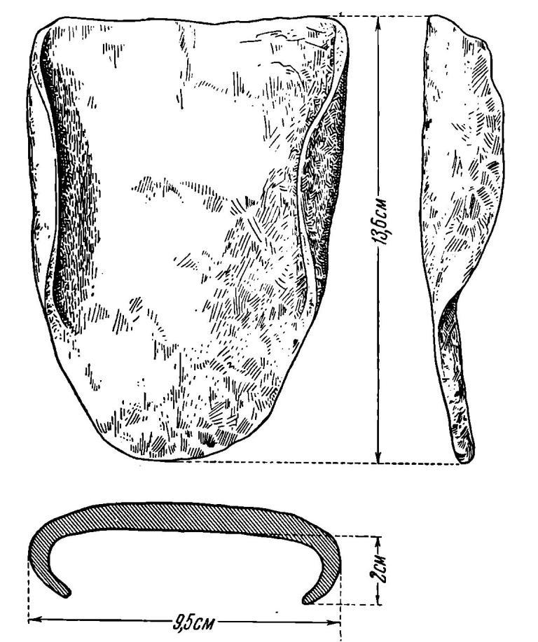 Рис. 51. Железный наральник из Старой Ладоги.
