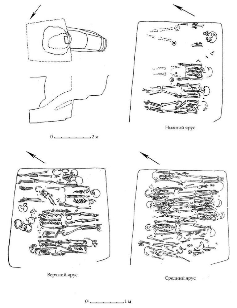 Рис. 103. Склеп № 155 Битакского некрополя (по А. Е. Пуздровскому, 2002)