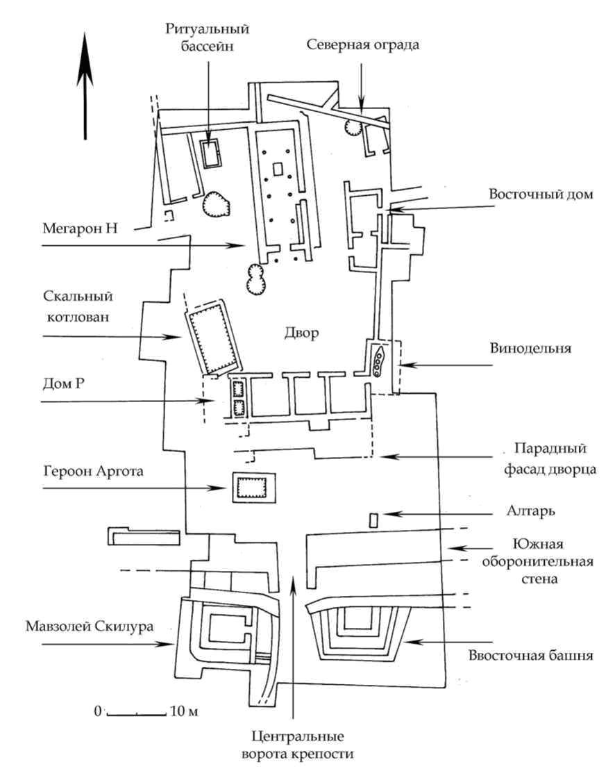 Рис. 26. План-схема Южного дворца