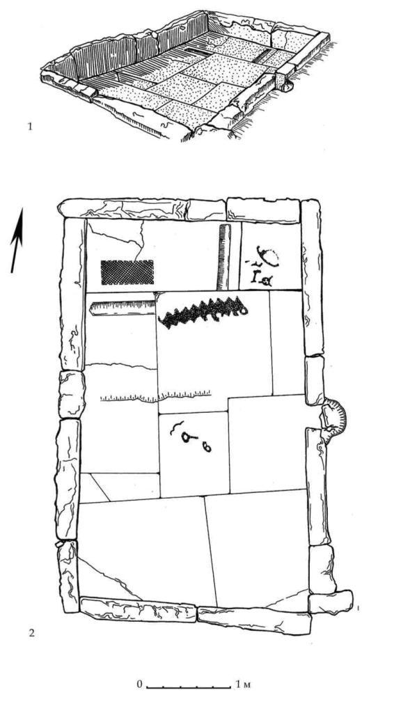 Рис. 33. Ритуальный бассейн подгоризонта D4 Южного дворца