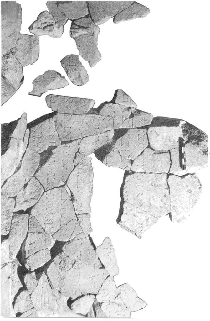 Рис. 41. Плита с надписью, упоминающей Аргота. Фотография