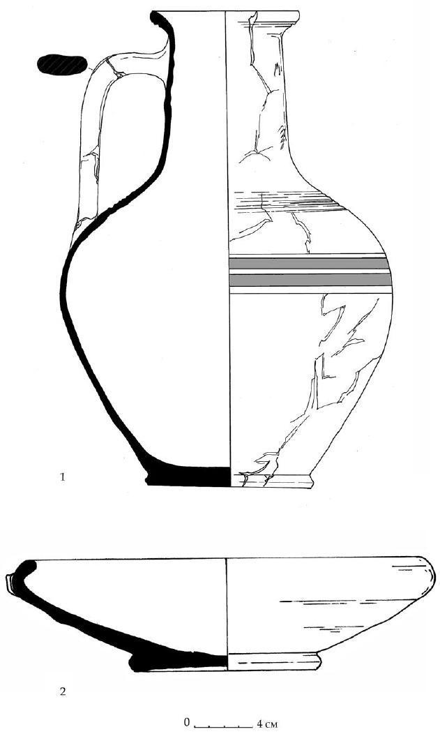 Рис. 55. Гончарные сосуды горизонта Е из Южного дворца