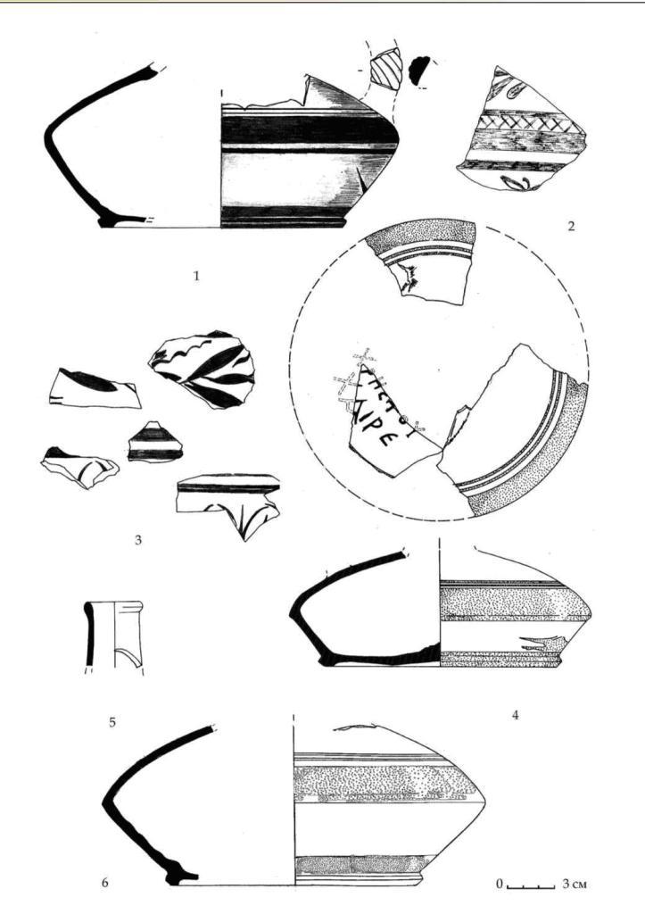 Рис. 61. Импортные лягиносы горизонтов E-D из Южного дворца