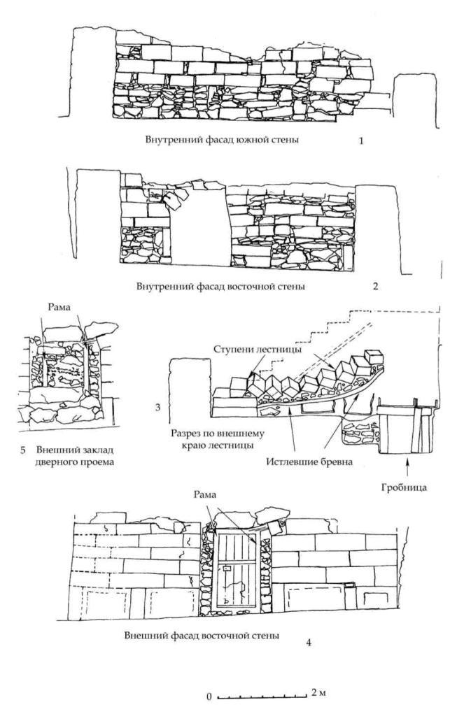 Рис. 71. Фасировки стен мавзолея