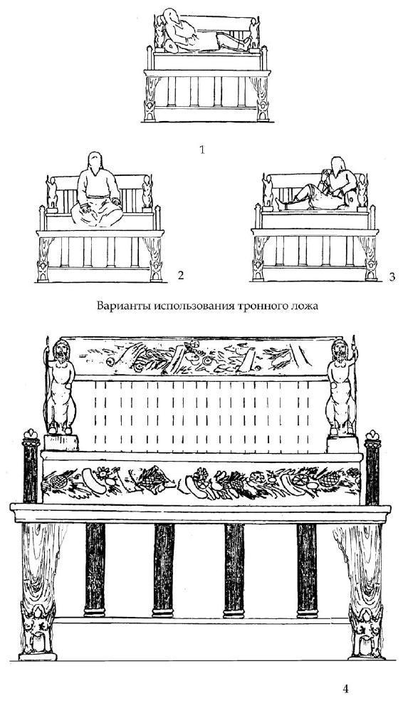Рис. 88. Вариант реконструкции тронного ложа из мавзолея
