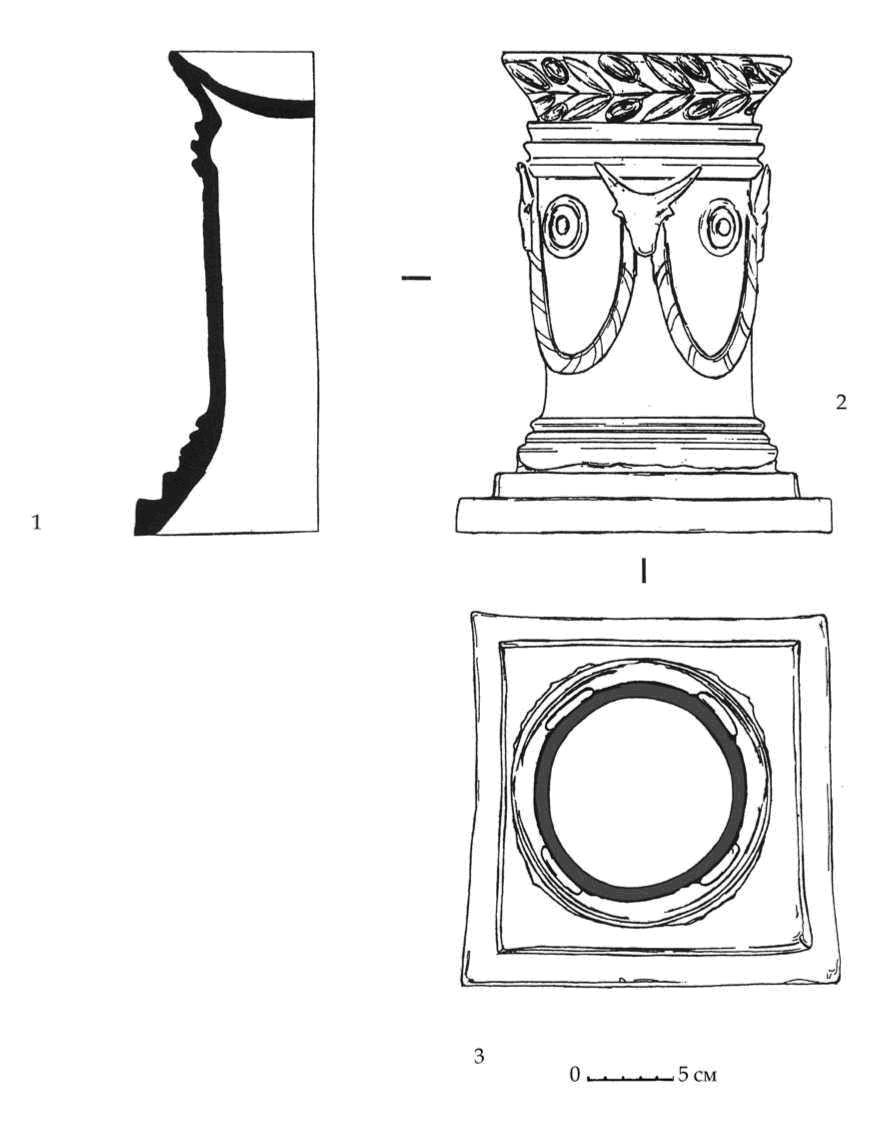 Рис. 92. Керамический алтарь из мавзолея