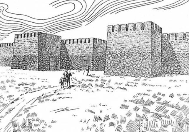 Рис. 16. Мури Неаполя Скіфського (реконструкція Т. М. Висоцької)