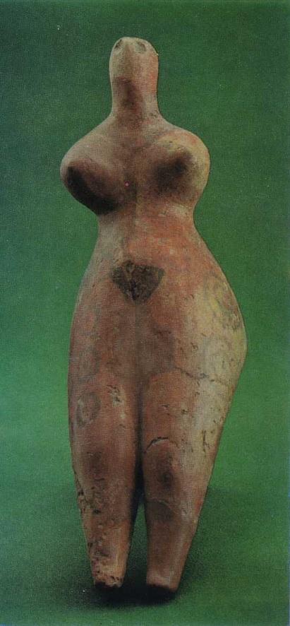 14. Женская статуэтка из Ялангач-тепе. Ангобированная глина. Середина IV тыс. до н. э.
