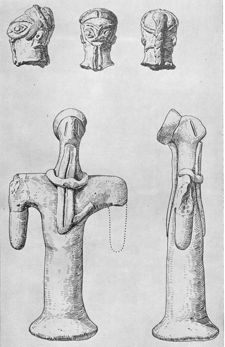 15. Мужские статуэтки из Кара-тепе. Глина. III тыс. до н. э.