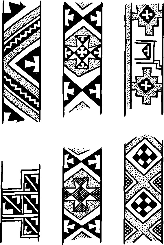 23. Мотивы росписи на посуде позднего энеолита из Геоксюра.