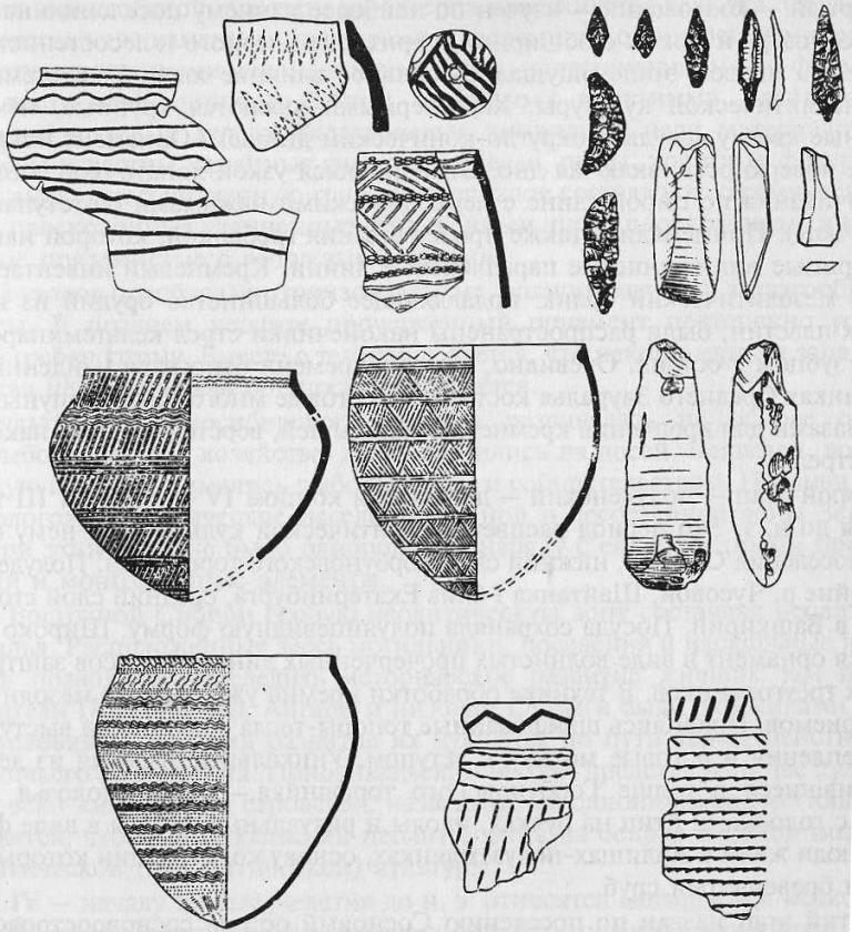Уральский и западносибирский неолит: керамика, каменные наконечники стрел, тесла