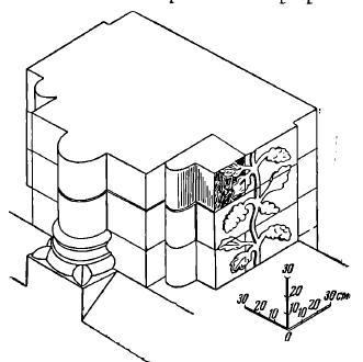Рис. 13. Схема реконструкции столба галереи
