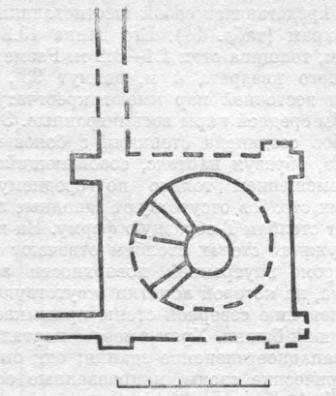Рис. 16. Новгород. Церковь Бориса и Глеба. План башни. По М. К. Каргеру.
