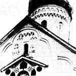 Рис. 20. Новгород. Западный щипец церкви Петра и Павла 1406 г.