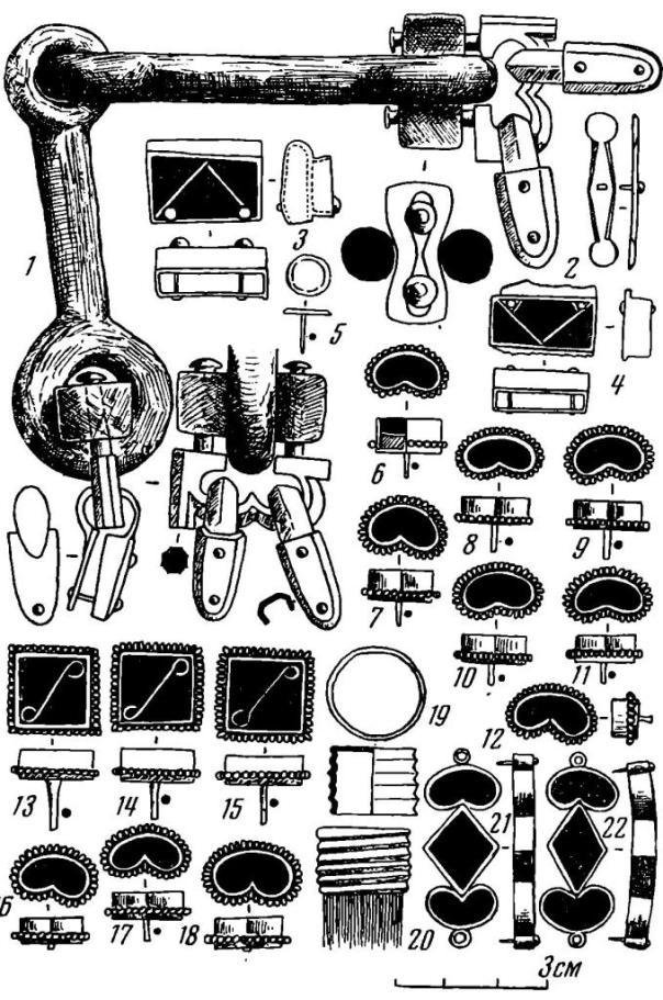 Рис.  15. Уздечный набор из Цибилиума