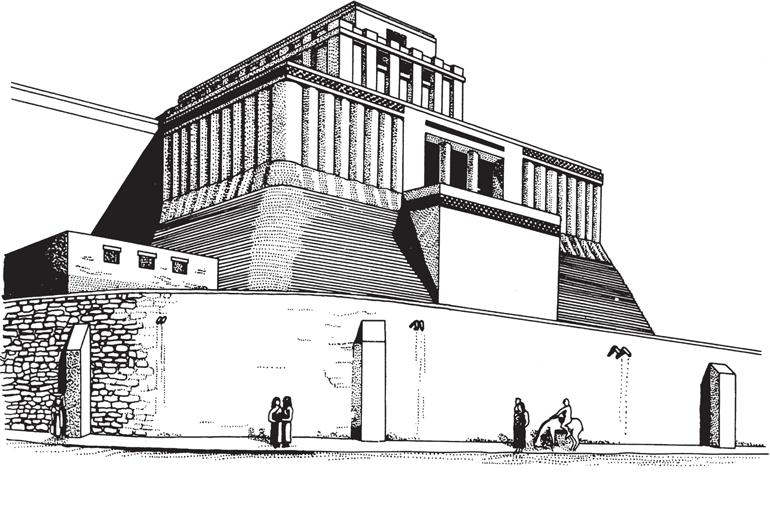 Рис. 15.11. Реконструкция храма в Эриду, Ирак. Показана платформа, поддерживающая святилище. 3000 год до н. э.
