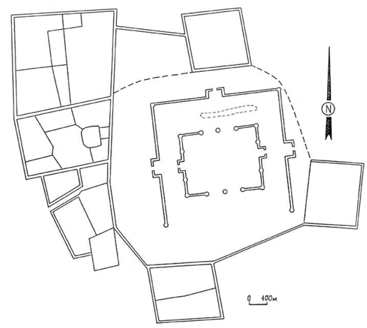 Рис. 6.6. Городище Оххум. VI—XII вв. Таласская долина