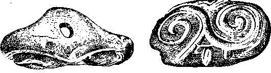 Рис. 69. Глиняная печать. Ариушд (1/2).