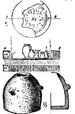 Рис. 67. Гончарная печь и модель такой печи. Ариушд (Эрёзд). По Ласло.