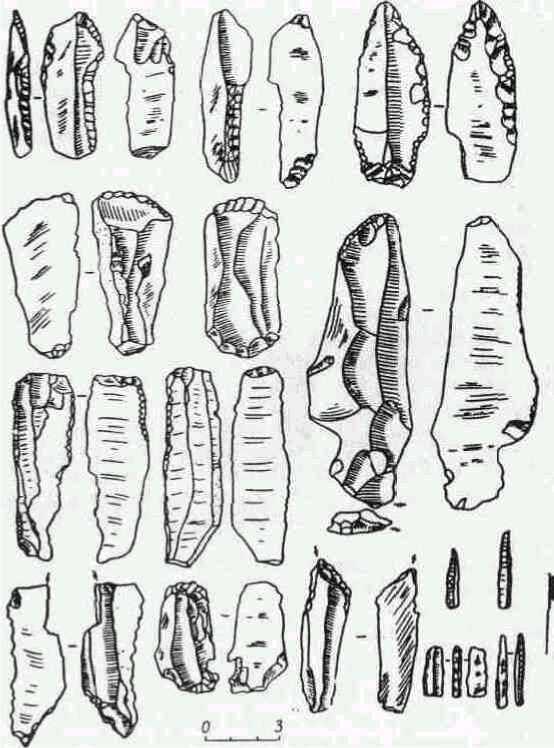 Орудия верхнего палеолита. (Бердыж.)