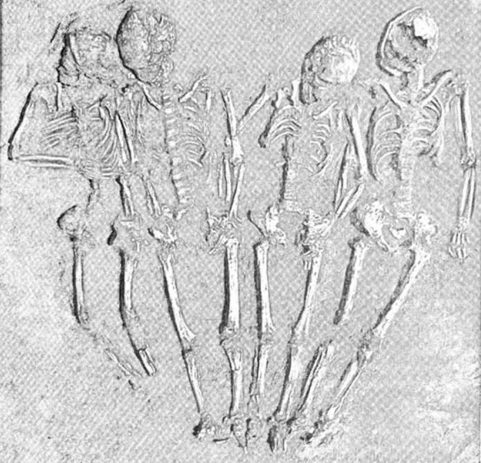 Рис. 31. Поховання маріупольського типу поблизу Олександрії на р. Оскол