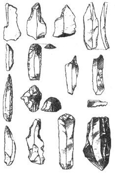 Рис. I. 14. Орудия верхнего палеолита
