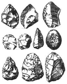 Рис. 1.12. Мустьерские орудия среднего палеолита